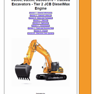 Jcb Js300, Js330, Js360, Js370 Excavator Tier 2 Diesel Engine Service Manual