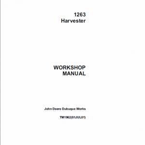 John Deere 1263 Harvester Technical Manual TM-1962