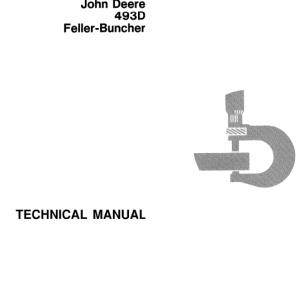 John Deere 493d Feller Buncher Service Manual Tm-1415