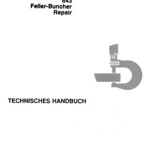 John Deere 643 Feller Buncher Technical Manual