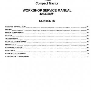 Massey Ferguson 1660 Tractor Service Workshop Manual