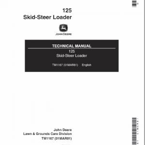 John Deere 125 Skid-Steer Loader Service Manual