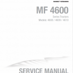 Massey Ferguson 4608, 4609, 4610 Tractors Service Workshop Manual