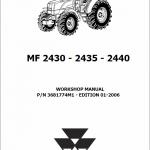 Massey Ferguson 2430, 2435, 2440 Tractor Service Manual