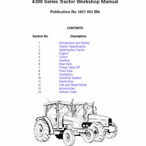 Massey Ferguson 4315, 4320, 4325, 4335 Tractor Service Manual
