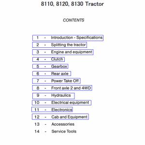 Massey Ferguson 8110, 8120, 8130 Tractor Service Manual