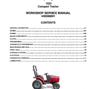Massey Ferguson 1523 Tractors Service Workshop Manual