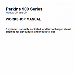 Perkins Engines 900 Series Workshop Repair Service Manual