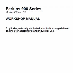 Perkins Engines 900 Series Workshop Repair Service Manual