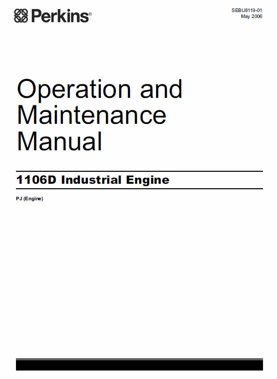 Perkins Engines 1106d Series Workshop Repair Service Manual