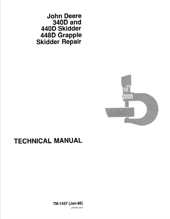 John Deere 340d, 440d, 448d Skidder Service Manual