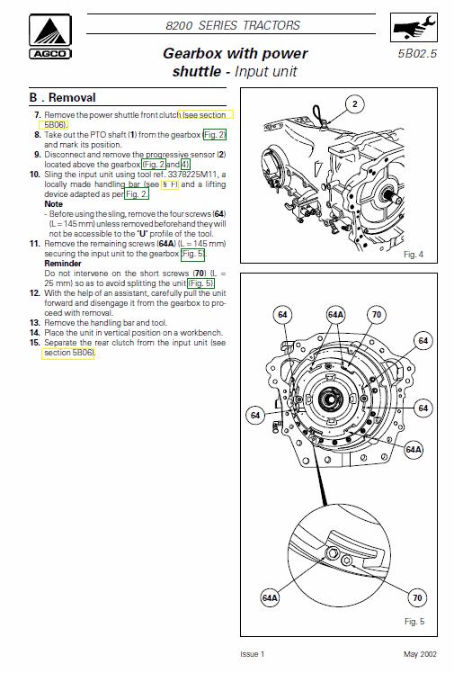 Massey Ferguson 8260, 8270, 8280 Tractor Service Manual