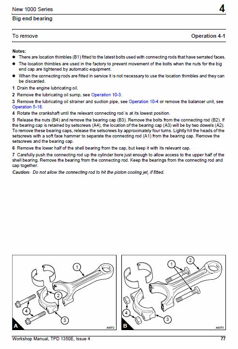 Perkins Engines 1000 Series Workshop Repair Service Manual
