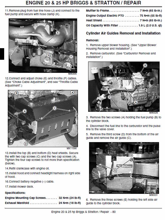 John Deere L1642, L17.542, L2048, L2548 Scotts Tractor Manual Tm-1949