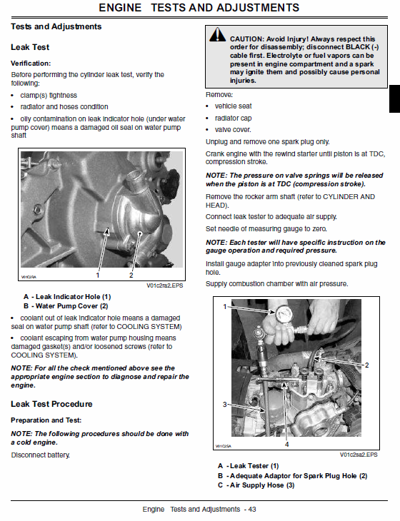 John Deere Atv 500, Atv 500ex, Atv 500ext Buck Utility Service Manual