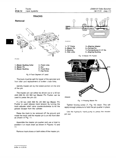 John Deere 693b Feller Buncher Service Manual Tm-1170