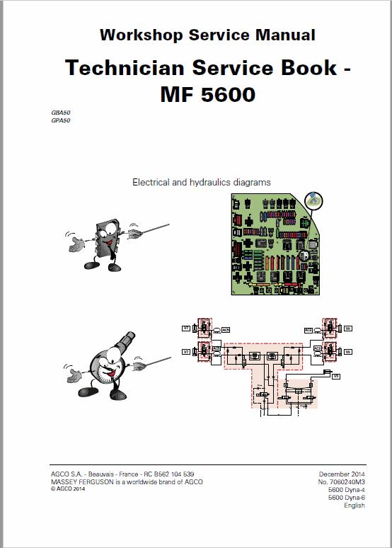 Massey Ferguson 5608, 5609, 5610 Tractors Service Workshop Manual