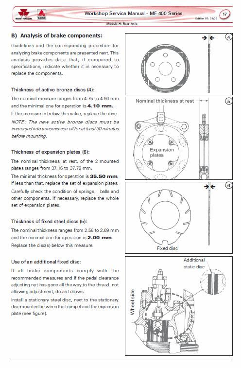 Massey Ferguson Mf 445, 460, 465, 475 Tractor Service Manual