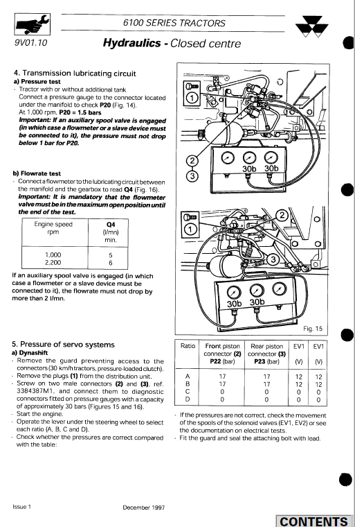 Massey Ferguson 6160, 6170, 6180, 6190 Tractor Service Manual