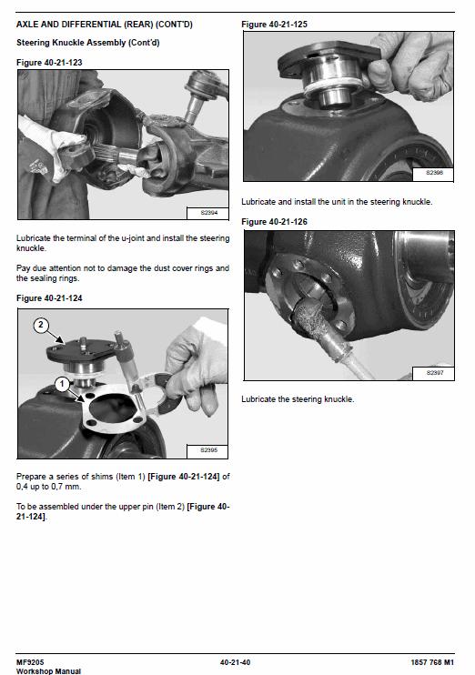 Massey Ferguson Mf 9205 Telescopic Handler Service Manual