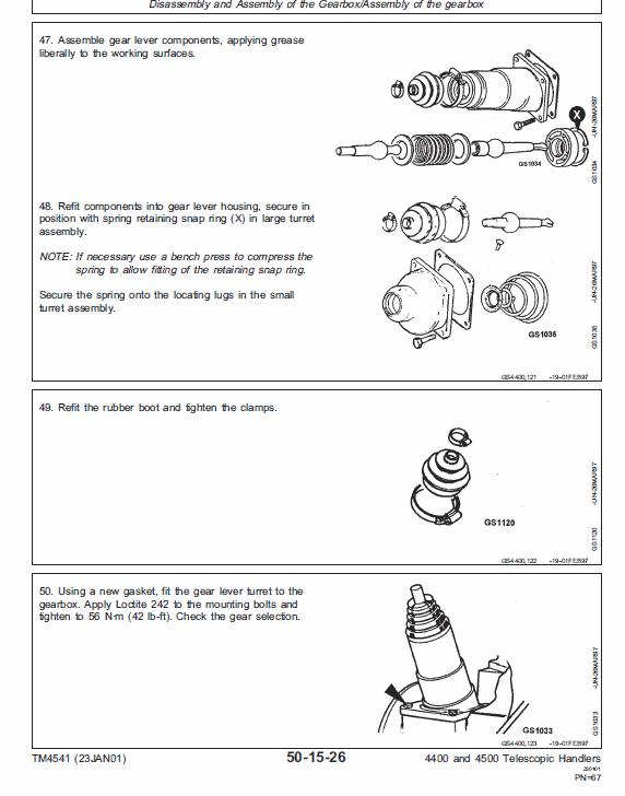 John Deere 4400 And 4500 Telescopic Handlers Service Manual