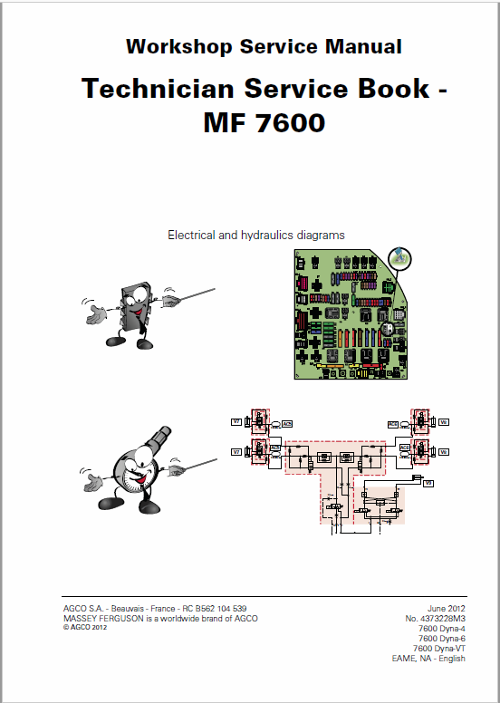 Massey Ferguson 7619, 7620, 7622, 7624, 7626 Tractor Service Manual