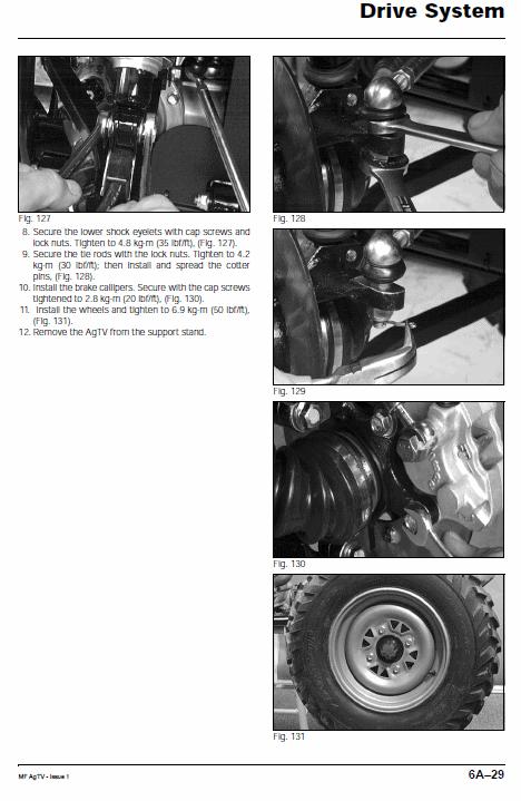 Massey Ferguson Agtv 250 300 400 500 Quad Service Manual