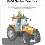 Massey Ferguson 6445, 6455, 6460, 6465, 6470, 6475, 6480 Tractor Service Manual