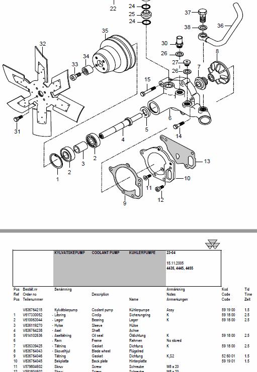 Massey Ferguson 4435, 4445, 4455 Tractor Service Manual