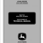John Deere 647a, 657a, 667a Quicktrak Technical Service Manual