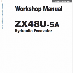 Hitachi ZX48U-5A Excavator Service Manual