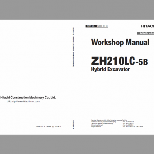 Hitachi ZH210LC-5B Excavator Service Manual