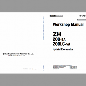 Hitachi ZH 200-5A and 200LC-5A Excavator Service Manual