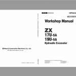 Hitachi ZX17U-5A and ZX19U-5A Excavator Service Manual