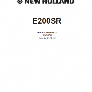 New Holland E200SR Excavator Service Manual