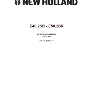 New Holland E40.2sr And E50.2sr Mini Excavator Service Manual