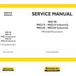 New Holland WE190, WE210 and WE230 Wheeled Excavators Manual