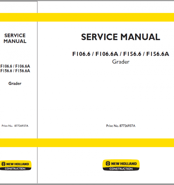 New Holland F106.6 Tier 3, F106.6A Tier 3, F156.6 Tier 3 and F156.6A Tier 3 Service Manual
