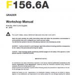 new holland F156.6A grader service manual