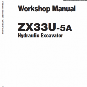Hitachi Zx33u-5a Excavator Service Manual