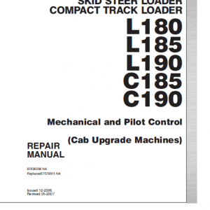 New Holland C185 And C190 Loader Service Manual