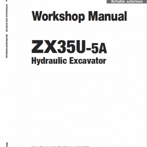 Hitachi Zx35u-5a And Zx35u-5b Excavator Service Manual