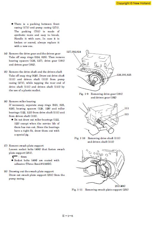 New Holland E235sr Excavator Service Manual