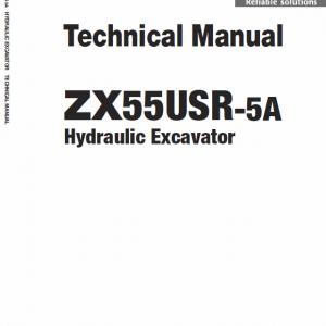 Hitachi Zx55usr-5a Excavator Service Manual
