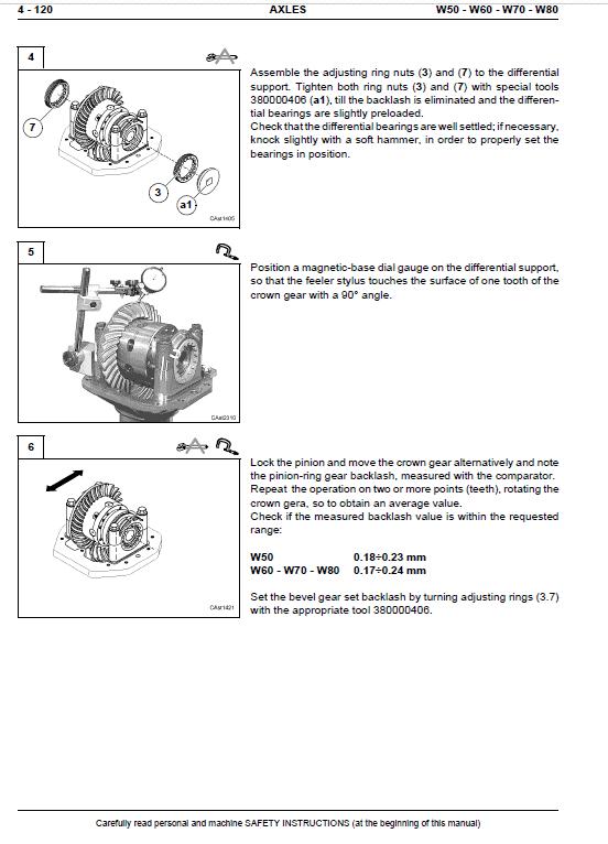 New Holland W60 Wheeled Loader Service Manual