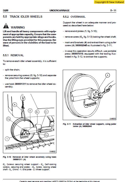 New Holland D255 Bulldozer Dozer Service Manual