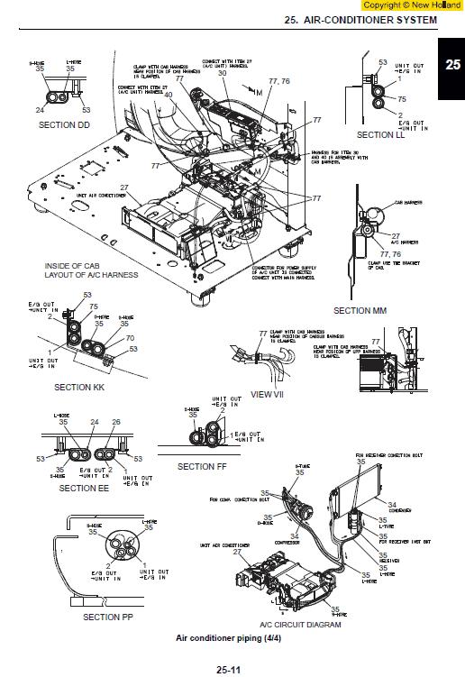 New Holland E140csr Excavator Service Manual