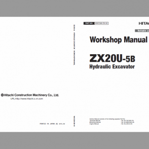 Hitachi Zx20u-5a And Zx20u-5b Excavator Service Manual