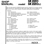Kobelco Sk220 And Sk220lc Excavator Service Manual