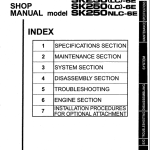 Kobelco Sk230lc-6e And Sk250lc-6e Excavator Service Manual